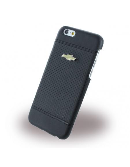 Chevrolet - CHHCP6LDEBL - Debossed Dots - Kunstleder Hard Cover / Case / Schutzhülle - Apple iPhone 6 Plus, 6s Plus - Schwarz