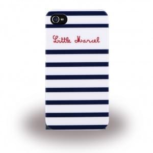 Little Marcel Book Tasche / Hülle / Case für Apple iPhone 6 / 6s Blau / Weiss