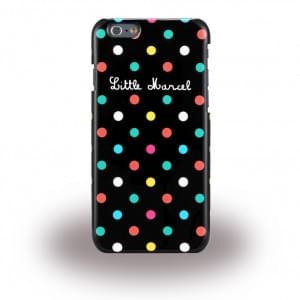 Little Marcel - LMIP6013 ? Noir Pois - Hard Cover / Case / Schutzhülle - Apple iPhone 6, 6s - Schwarz