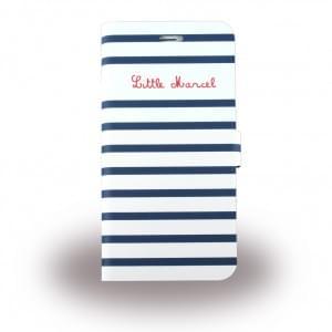 Little Marcel Book Tasche / Hülle / Case für Apple iPhone 6 / 6s  Weiss Blau