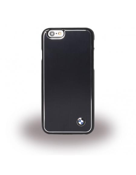 BMW - BMHCP6LMBBK - M Brushed Aluminium - Hardcover / Case / Handyhülle - Apple iPhone 6 Plus, 6s Plus - Schwarz