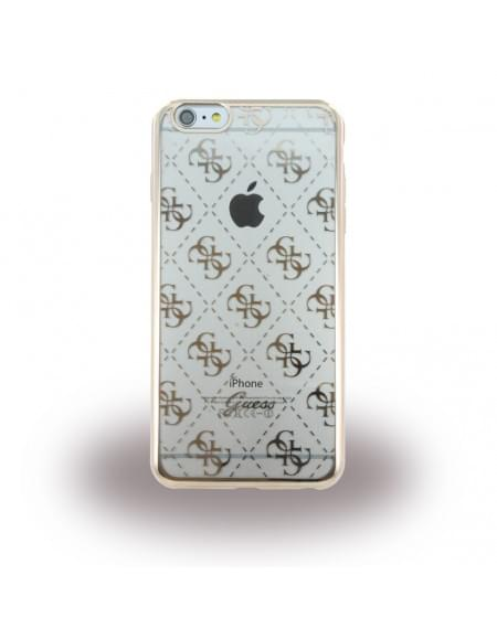 Guess - 4G GUHCP6LTR4GG - TPU Cover / Silikon Case / Schutzhülle - Apple iPhone 6 Plus, 6s Plus - Gold