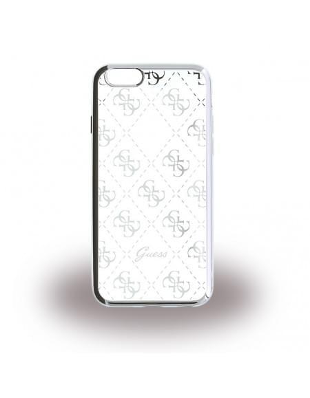 Guess - 4G GUHCP6LTR4GSI - TPU Cover / Silikon Case / Schutzhülle - Apple iPhone 6 Plus, 6s Plus - Silber