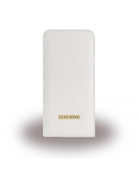 Hugo Boss - Reflex - Leder Flip Cover / Handytasche - Apple iPhone 6, 6s - Weiss