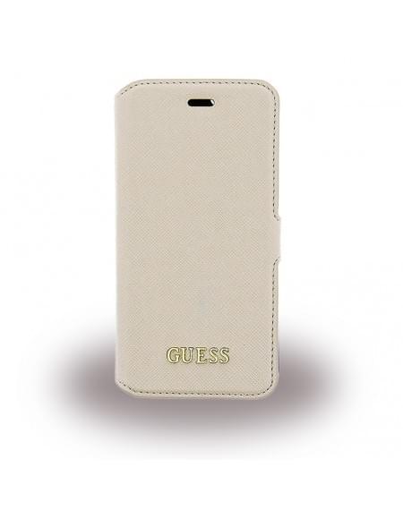 Guess - Saffiano GUFLBKP6LTBE - Book Cover / Handytasche / Case - Apple iPhone 6 Plus, 6s Plus - Beige