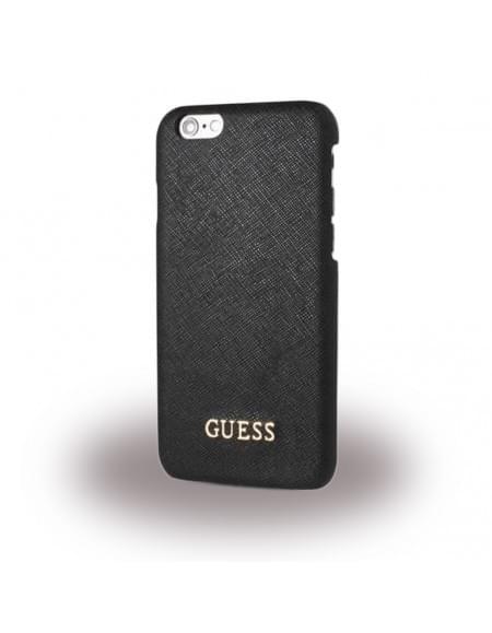 Guess - Saffiano GUHCP6LTBK - Hard Cover / Case / Schutzhülle - Apple iPhone 6 Plus, 6s Plus - Schwarz