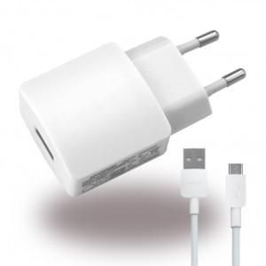 Original Huawei - HW-050200E3W - Netzteil / Ladegerät / Adapter + Ladekabel - USB - 2000mAh - Weiss