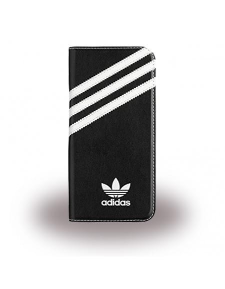 Adidas Basics - Book Cover / Hülle / Handytasche - Samsung G935F Galaxy S7 Edge - Schwarz/Weiss