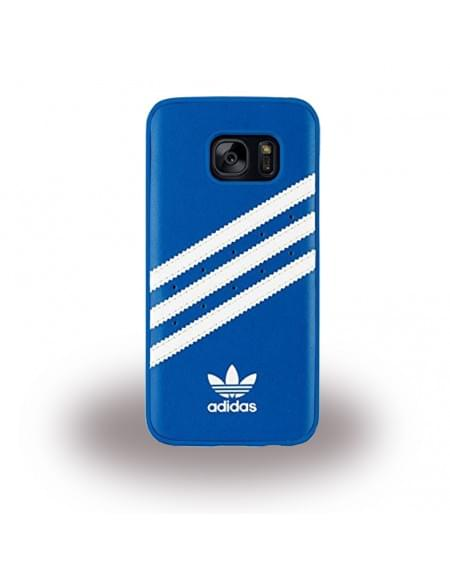 Adidas Basics - Hard Cover / Case / Schutzhülle - Samsung G930F Galaxy S7 - Blau/Weiss