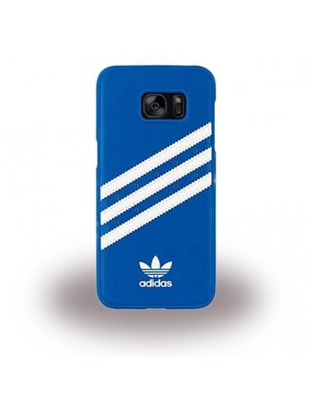 Adidas Basics - Hard Cover / Case / Schutzhülle - Samsung G935F Galaxy S7 Edge - Blau/Weiss