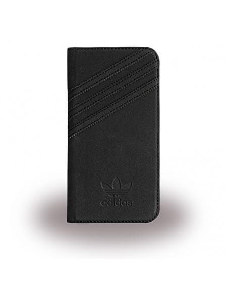 Adidas Basics - Book Cover / Hülle / Handytasche - Samsung G930F Galaxy S7 - Schwarz/Schwarz