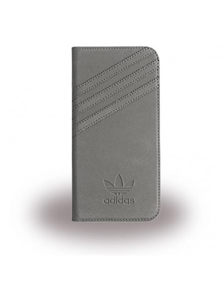 Adidas Basics - Book Cover / Hülle / Handytasche - Samsung G930F Galaxy S7 - Grau/Grau