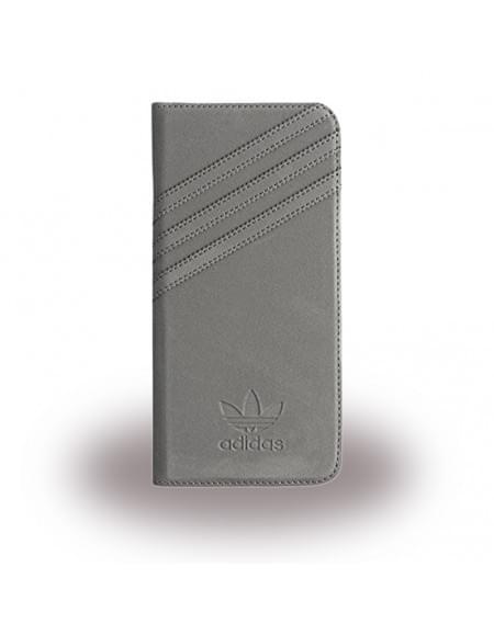 Adidas Basics - Book Cover / Hülle / Handytasche - Samsung G935F Galaxy S7 Edge - Grau/Grau