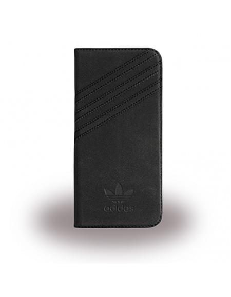 Adidas Basics - Book Cover / Hülle / Handytasche - Samsung G935F Galaxy S7 Edge - Schwarz/Schwarz