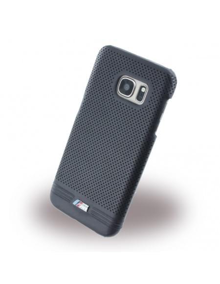 BMW - BMHCS7MPEBIC M Adrenaline - Perforated Leather - Hard Cover / Case / Schutzhülle - Samsung G930F Galaxy S7 - Schwarz