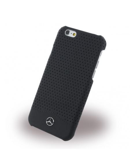Mercedes Benz - Perforated-Wave II - MEHCP6CSPEBK - Hardcover / Schutzhülle mit gelochtem Leder - Apple iPhone 6, 6S - Schwarz
