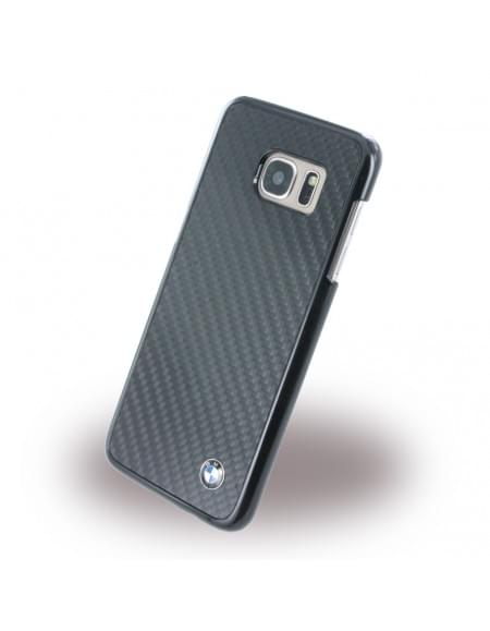 BMW - BMHCS7EMBC - Real Carbon - Hardcover / Handyhülle / Case  - Samsung G935F Galaxy S7 Edge - Schwarz