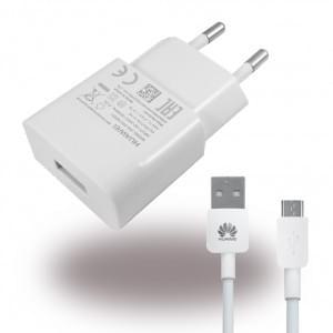 Original Huawei - HW-050100E01 - Netzteil / Ladegerät / Adapter + Ladekabel - USB - 1000mAh - Weiss