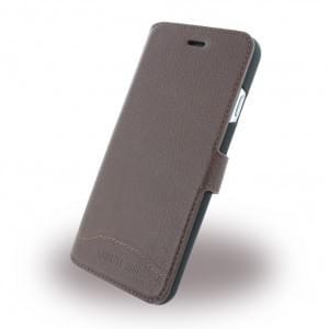 Cerruti 1881 - CEFLBKP6GRLBR - Signature Trim - Leder Handytasche / Book Cover - Apple iPhone 6, 6s - Braun