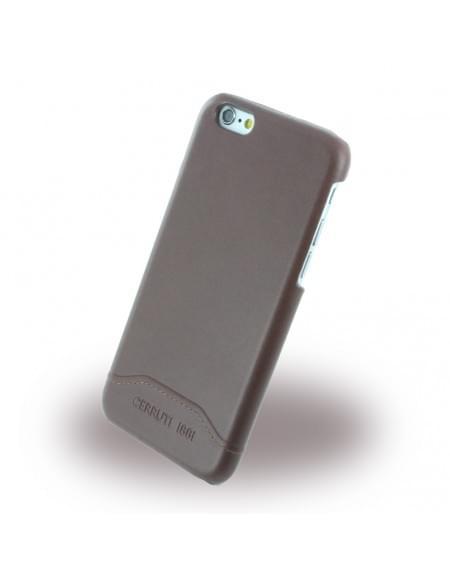 Cerruti 1881 - CEHCP6SLBR - Smooth Split - Kunstleder Hardcase / Hardcover - Apple iPhone 6, 6s - Braun