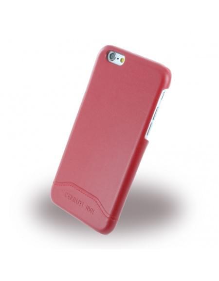 Cerruti 1881 - CEHCP6SLRE - Smooth Split - Kunstleder Hardcase / Hardcover - Apple iPhone 6, 6s - Rot