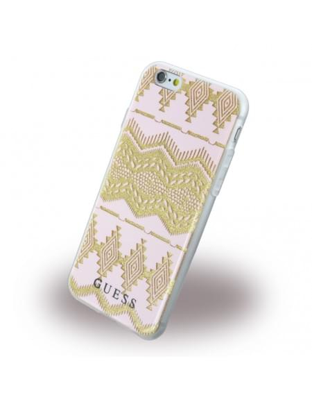 Guess - 3D Effect Aztec Tribal GUHCP6TGPI - Silikon Cover / Schutzhülle - Apple iPhone 6, 6s - Pink