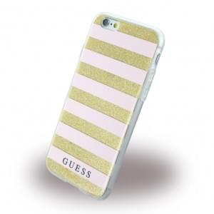 Guess - 3D Effect Stripes Tribal GUHCP6STGPI - Silikon Cover / Schutzhülle - Apple iPhone 6, 6s - Pink