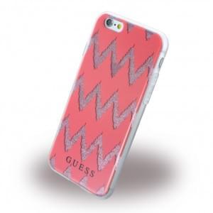 Guess - 3D Effect Stripes Chevron GUHCP6CGRE - Silikon Cover / Schutzhülle - Apple iPhone 6, 6s - Rot