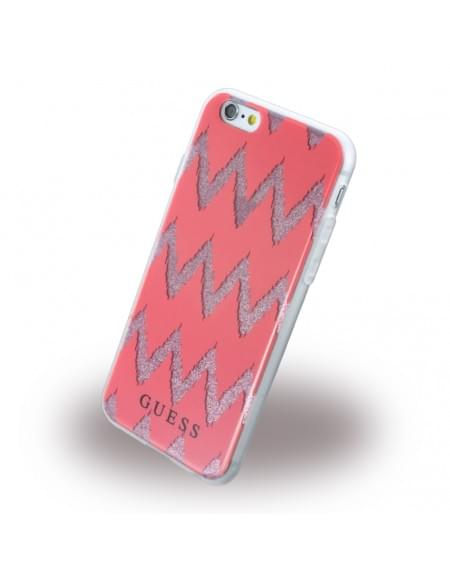 Guess - 3D Effect Stripes Chevron GUHCP6CGRE - Silikon Cover / Schutzhülle - Apple iPhone 6, 6s - Rot