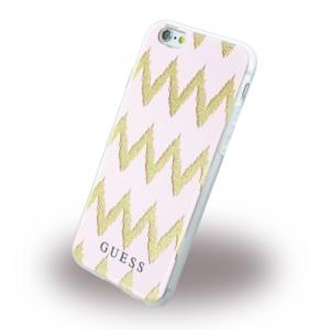 Guess - 3D Effect Stripes Chevron GUHCP6CGPI - Silikon Cover / Schutzhülle - Apple iPhone 6, 6s - Pink
