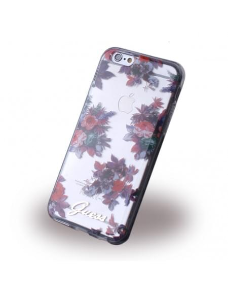 Guess - Blossom Flower GUHCP6TRFLG - Silikon Cover / Schutzhülle - Apple iPhone 6, 6s - Transparent