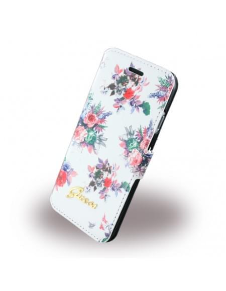 Guess - Blossom Flower GUFLBKP6FPRWH - Book Cover / Tasche / Handytasche - Apple iPhone 6, 6s - Weiss
