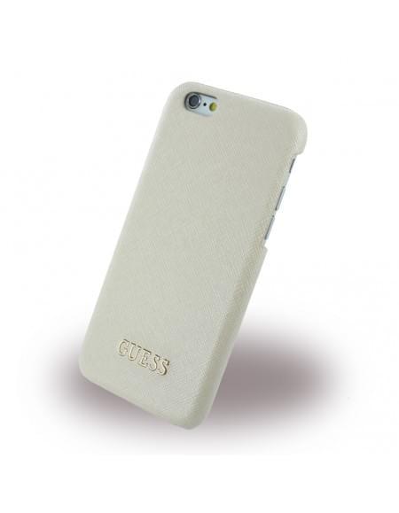 Guess - Saffiano GUHCP6TBE - Hard Cover / Case / Schutzhülle - Apple iPhone 6, 6s - Beige