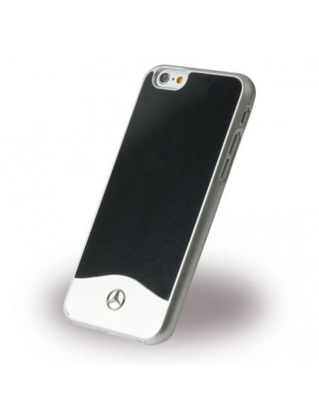 Mercedes Benz - Wave I Metallic - MEHCP6CUALBK - Hardcover / Handyhülle - Apple iPhone 6, 6S - Schwarz