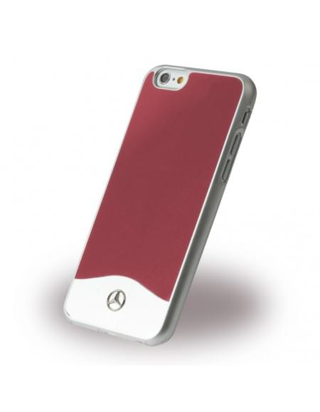 Mercedes Benz - Wave I Metallic - MEHCP6CUALRE - Hardcover / Handyhülle - Apple iPhone 6, 6S - Rot