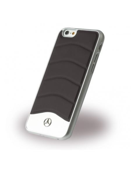 Mercedes Benz - Wave III Leder + Aluminium - MEHCP6CUSBK - Hardcover / Handyhülle - Apple iPhone 6, 6S - Schwarz
