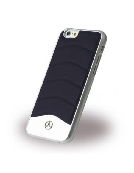 Mercedes Benz - Wave III Leder + Aluminium - MEHCP6CUSNA - Hardcover / Handyhülle - Apple iPhone 6, 6S - Blau