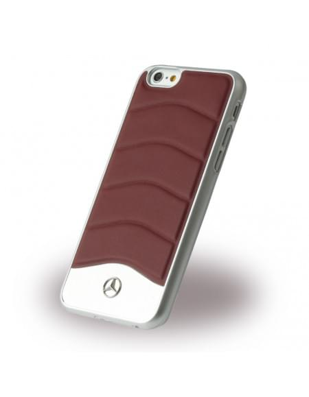 Mercedes Benz - Wave III Leder + Aluminium - MEHCP6CUSRE - Hardcover / Handyhülle - Apple iPhone 6, 6S - Classic Rot