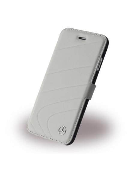 Mercedes Benz - Organic I - MEFLBKP6CLGR - Book Cover / Handytasche - Apple iPhone 6, 6S - Kristall Grau
