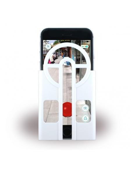 Aiming Case - Pokemon Go Fänger Cover Zielhilfe - Apple iPhone 6, 6s - Weiss