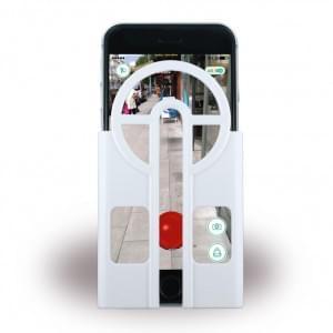 Aiming Case - Pokemon Go Fänger Cover Zielhilfe - Apple iPhone 6 Plus, 6s Plus - Weiss