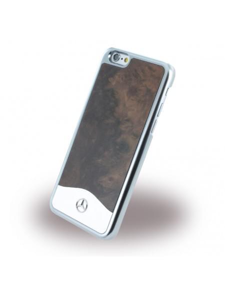 Mercedes Benz - WAVE IV MEHCP6CAPOBK - Holz + Aluminium Hardcover / Schutzhülle - Apple iPhone 6, 6s - Schwarz