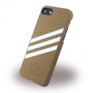Adidas - Originals Moulded - Hardcover / Handyhülle / Schutzhülle - Apple iPhone 7 - Braun/Weiss