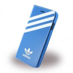 Adidas Basics - Book Cover / Hülle / Handytasche - Apple iPhone 7 - Blau-Weiss