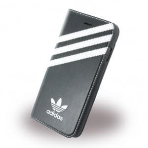 Adidas Basics - Book Cover / Hülle / Handytasche - Apple iPhone 7 - Schwarz-Weiss