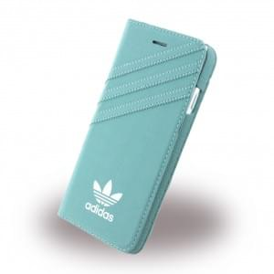Adidas Basics - Book Cover / Hülle / Handytasche - Apple iPhone 7 - Mineral Grün-Weiss