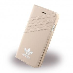 Adidas Basics - Book Cover / Hülle / Handytasche - Apple iPhone 7 - Vapour Pink-Weiss
