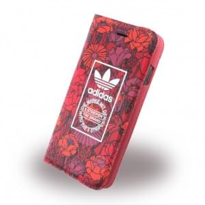 Adidas Bohemian - Book Cover / Hülle / Handytasche - Apple iPhone 7 - Rot