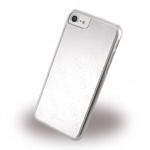 Guess - 4G Metallic Hard Cover / Case / Schutzhülle - Apple iPhone 7 / 8 - Silber