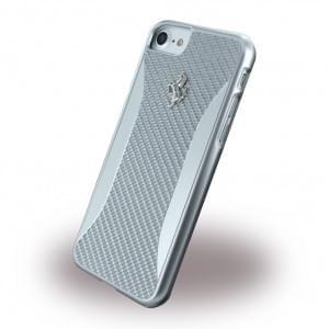 Ferrari - Experience - Hardcover / Case / Handyhülle - Apple iPhone 7 / 8 - Silber